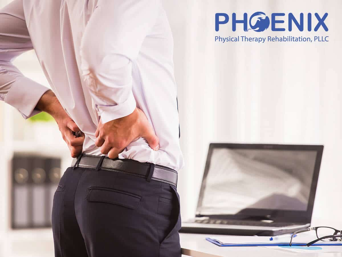 Business Man With Back & Hip Pain In Levittown, NY