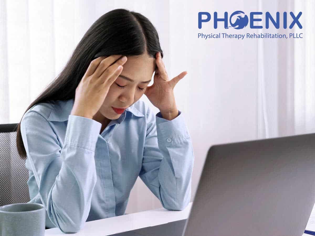 Businesswoman suffering from migraine In Levittown, NY